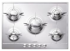 """PU75ES 28"""" Piano Design Gas Cooktop with 5 Sealed Burners Evershine Automatic Electronic Ignition and Safety Valves in Stainless Steel"""