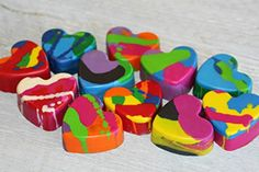 12 Rainbow Heart Crayons Valentines Day Crayons Soy Beeswax Kids Gift Set Eco Friendly Crayons Toy Birthday Party Favor Sustainable Waldorf Crayons