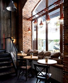 Stunning Industrial Cafe Interiors | Visit vintageindustrialstyle.com for more…