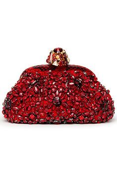 Beaded Purses, Beaded Bags, Beaded Clutch, Clutch Prada, Red Clutch, Clutch Bags, Beautiful Bags, Evening Bags, Evening Clutches