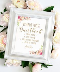 Instant Photo Guestbook Sign  8 x 10  DIY Printable  Shine