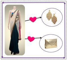 Add that classic golden touch to your trendy saree with stunning accessories.