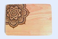 Mandala chopping board  Handmade  Wood burned  by CraftQuirks