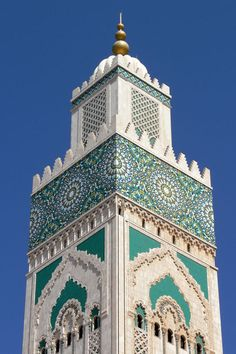 This photo from Casablanca, North is titled 'Hassan II mosque'. Mosque Architecture, Classical Architecture, Beautiful Architecture, Art And Architecture, Morocco Destinations, Hassan 2, Beautiful Mosques, Arabic Design, Morocco Travel