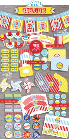 circus, 1st birthday boy, circus party, circus birthday, circus baby shower, circus party printables, circus, big top party, first birthday by youmakedo on Etsy https://www.etsy.com/listing/129927515/circus-1st-birthday-boy-circus-party