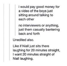 Please?! So much better than interviews asking the same questions over and over again. Even though I enjoy those too...