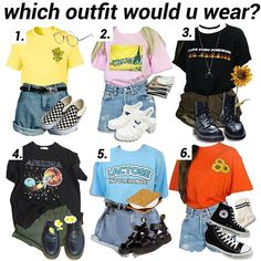 Piece together a outfit Retro Outfits, Grunge Outfits, Outfits For Teens, Trendy Outfits, Vintage Outfits, Cool Outfits, Summer Outfits, Hipster School Outfits, Artsy Outfits