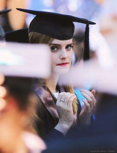 Emma Watson graduating from Brown University (May 25, 2014)