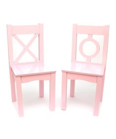 Lipper International Light Pink Kids Chair - Set of Two Desk And Chair Set, Desk Chair, Pink Love, Pretty In Pink, Pink Home Decor, Pink Kids, Kids Room Design, Swinging Chair, Kids Furniture