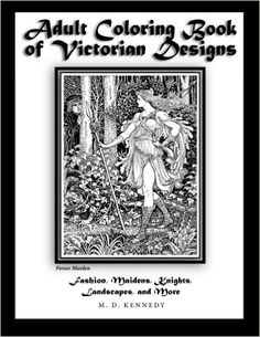Adult Coloring Book of Victorian Designs: Fashion, Maidens, Knights, Landscapes, and More - https://tryadultcoloringbooks.com/adult-coloring-book-of-victorian-designs-fashion-maidens-knights-landscapes-and-more/ - #AdultColoringBooks, #FlowersandLandscapes