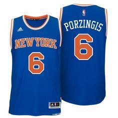 New York Knicks Kristaps Porzingis Adult Replica Road Jersey New 100% mesh detail is breathable, comfortable and easy to care Made by Adidas Features Screen-printed name and numbering Officially licen  check out the deals for knicks gear on my site --->  www.knicksapparel.xyz
