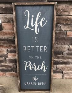 Summer Porch Makeover with Valspar Paint Colors Patio Signs, Front Porch Signs, Outdoor Signs, Porch Rules Sign, Backyard Signs, Outdoor Decor, Outdoor Life, Outdoor Living, Diy Signs