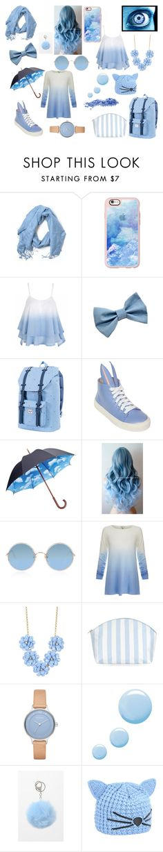 """Blue Aesthetic"" by sachismith ❤ liked on Polyvore featuring Casetify, Herschel Supply Co., Minna Parikka, Moma, Sunday Somewhere, Joie, J.Crew, Catherine & Jean, Skagen and Topshop"