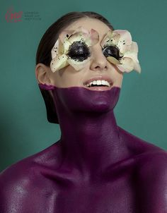 Flowers in my eyes! Beautiful spring advert makeup from LMI students