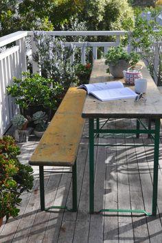 bavarian beer table and bench via designsponge