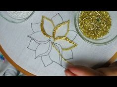 all types of hand embroidery stitches Bead Embroidery Tutorial, Bead Embroidery Patterns, Bead Embroidery Jewelry, Hand Embroidery Stitches, Hand Embroidery Designs, Ribbon Embroidery, Beading Patterns, Flower Patterns, Design Patterns