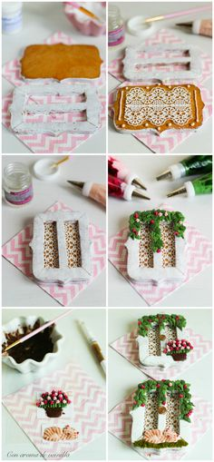 Receta de galletas de dulce de leche decoradas. Tutorial galletas ventana.