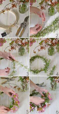 DIY - how to make a spring flower crown - step by step at Decorator's Notebook blog