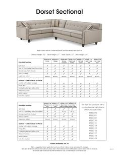 Dorset Sectional by Rowe furniture