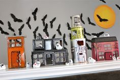 Creative decorations for Halloween. This would be fun to make with the kids. And as an added bonus - they can play with it all season long.
