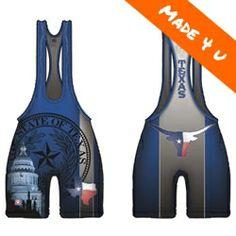 Made 4 U Texas Longhorn Blue Singlet