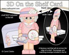 3D On the Shelf Card Kit Gossip Galz Cross Stitch Kath on Craftsuprint - View Now!