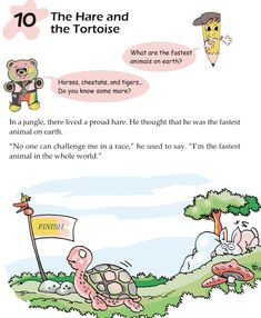 Grade 1 Reading Lesson 10 Fables And Folktales – The Hare And The Tortoise Talk 4 Writing, Grade 1 Reading, Moral Stories For Kids, Have Fun Teaching, English Story, English Reading, Handwriting Practice, Reading Lessons, Project Based Learning