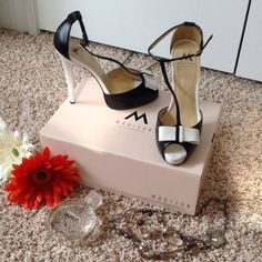 "STACEY T-Strap High Heels EUC!!! Worn 1 time! Black & white, size 8.5, approx heel height: 5"" including a 3/4"" platform. Box included. Madison by Shoedazzle Shoes Heels"