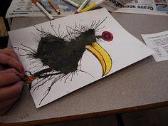 ink blown creatures