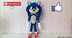 Molde: Clique na imagem para amplia Vídeo ensinando fazer: by por Ana Maria Vaiano de Aquino ... Sonic The Hedgehog, Make It Yourself, Fictional Characters, Angel, Youtube, Japanese Doll, Baby Dolls, Characters, Party