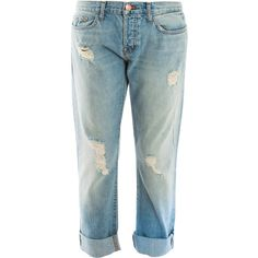 J BRAND Real Boyfriend Roll Up Jeans ($146) ❤ liked on Polyvore featuring jeans, pants, jeans/pants, blue jeans, bleached blue jeans, vintage jeans, rolled up jeans and bleached jeans