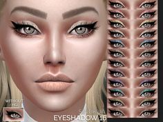 Eyshadow with eyeliner  Found in TSR Category 'Sims 4 Female Eyeshadow'