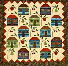 Farmhouse Quilt by Edyta Sitar for Laundry Basket Quilts in book Friendship Strips and Scraps