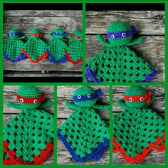 Teenage mutant ninja turtles Lovey Doll/ by KrafternoonGifts2