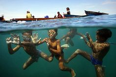 Timothy Allen Page Liked · January 29, 2012 · Edited ·    Bajau sea gypsy children playing by their house boats.
