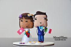 Custom Wedding Cake Topper  Same Sex Cake Topper  Felt by MmeHibou