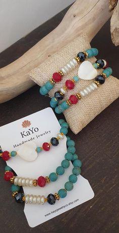 Jewelry Model, Boho Jewelry, Jewelry Shop, Gemstone Bracelets, Bracelet Set, Bracelet Making, Etsy Handmade, Handmade Items, Handmade Gifts