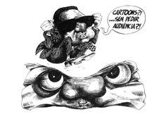 Caricatura de Mário Soares por António