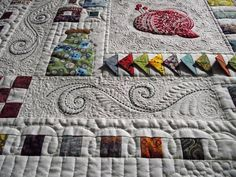 The Quilt Rat: My little Janome inspired quilt Machine Quilting Patterns, Longarm Quilting, Free Motion Quilting, Quilting Tips, Hand Quilting, Quilting Projects, Quilting Designs, Quilt Patterns, Sewing Patterns