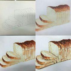 #빵#식빵#윤아쌤시범# #명덕창조의아침 #I♡명덕창아 #'그림을배워요'명덕창아 블로그에 놀러오세요#미대준비생 퐛팅