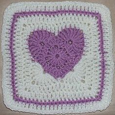 Ravelry: Purple Passion Heart Square pattern by April Moreland