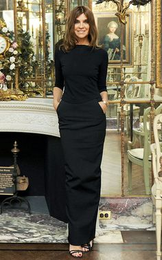 Former editor of Vogue, Paris, Carine Roitfeld.  She has great style.