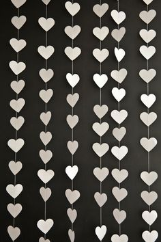White Love Heart Garland. (via Etsy)