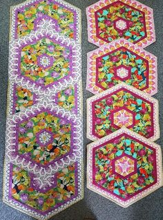 Saturday 26th May there is a table runner workshop, which we have called spinning triangles. This a a great workshop using border prints or strips of fabrics and the technique can be used to create a table runner or individual table mats. Why not choose from our new fabrics? Border Print, Triangles, Table Runners, Spinning, A Table, Workshop, Fabrics, Quilts, Blanket