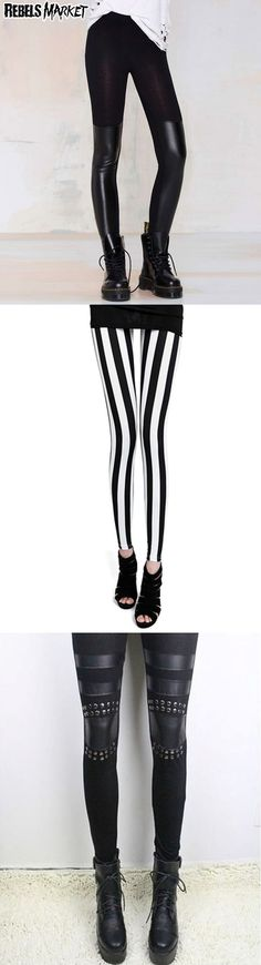 Shop punk goth leggings at RebelsMarket.