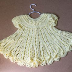 crochet baby dress circular yoke - Google-søk