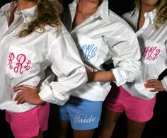 Personalized Soffe Shorts for Bridesmaids ..Getting ready outfits!