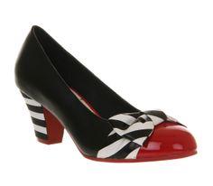 Lola Ramona Elsie Heel Black White Multi Leather - Mid Heels