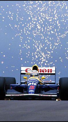 The Red Five: Nigel Mansell, Williams Williams Formula 1, Williams F1, F1 Wallpaper Hd, Car Wallpapers, Grand Prix, Sport Cars, Race Cars, Nascar, Stock Car