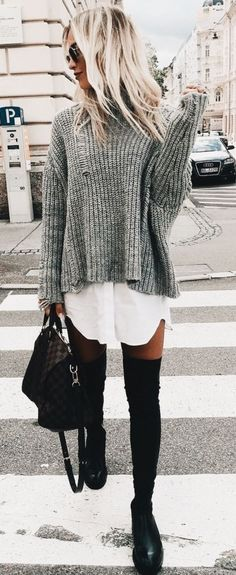 autumn winter trends 2018 2019 we love the new proposals of .- autumn winter trends 2018 2019 we love the new proposals of the m – Leben Autumn / Winter Trends We love the new proposals of the m – - Winter Trends, Mode Outfits, Stylish Outfits, Fashion Outfits, Womens Fashion, White Outfits, Black Otk Boots Outfits, Fashion Clothes, Fashion Ideas